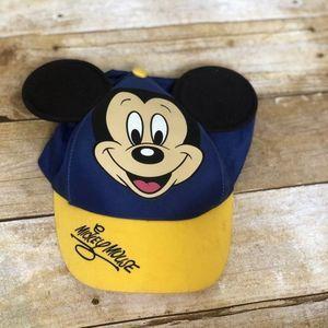 3/$25 Vintage Disney Mickey Ears Blue Ball Cap